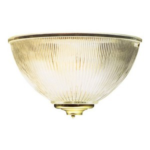 Design House 506782 Millbridge 1-Light Half-Sphere Wall Sconce, Polished Brass