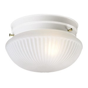 Design House 507376 Millbridge 1-Light 7-1/2in Ceiling Mount Light Fixture, Textured White