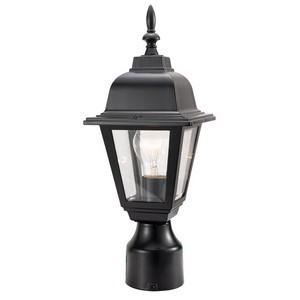 Design House 507509 Maple Street Outdoor Post Light, 6 X 16, Black Die-Cast Aluminum