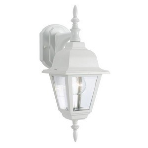 Design House 507558 Maple Street Outdoor Downlight, 6 X 17, White Die-Cast Aluminum