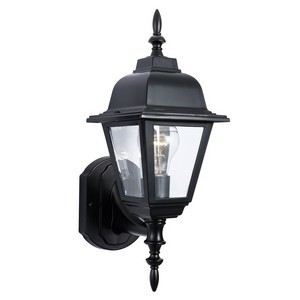 Design House 507566 Maple Street Outdoor Uplight, 6 X 17, Black Die-Cast Aluminum