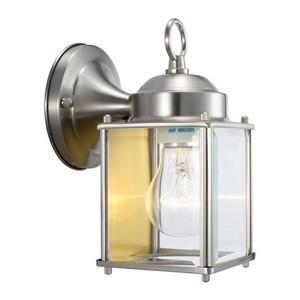 Design House 507863 Coach Outdoor Downlight, 4-1/2 X 8, Satin Nickel