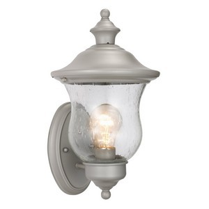 Design House 508978 Highland Outdoor Uplight, 7-1/2 X 13, Heritage Silver