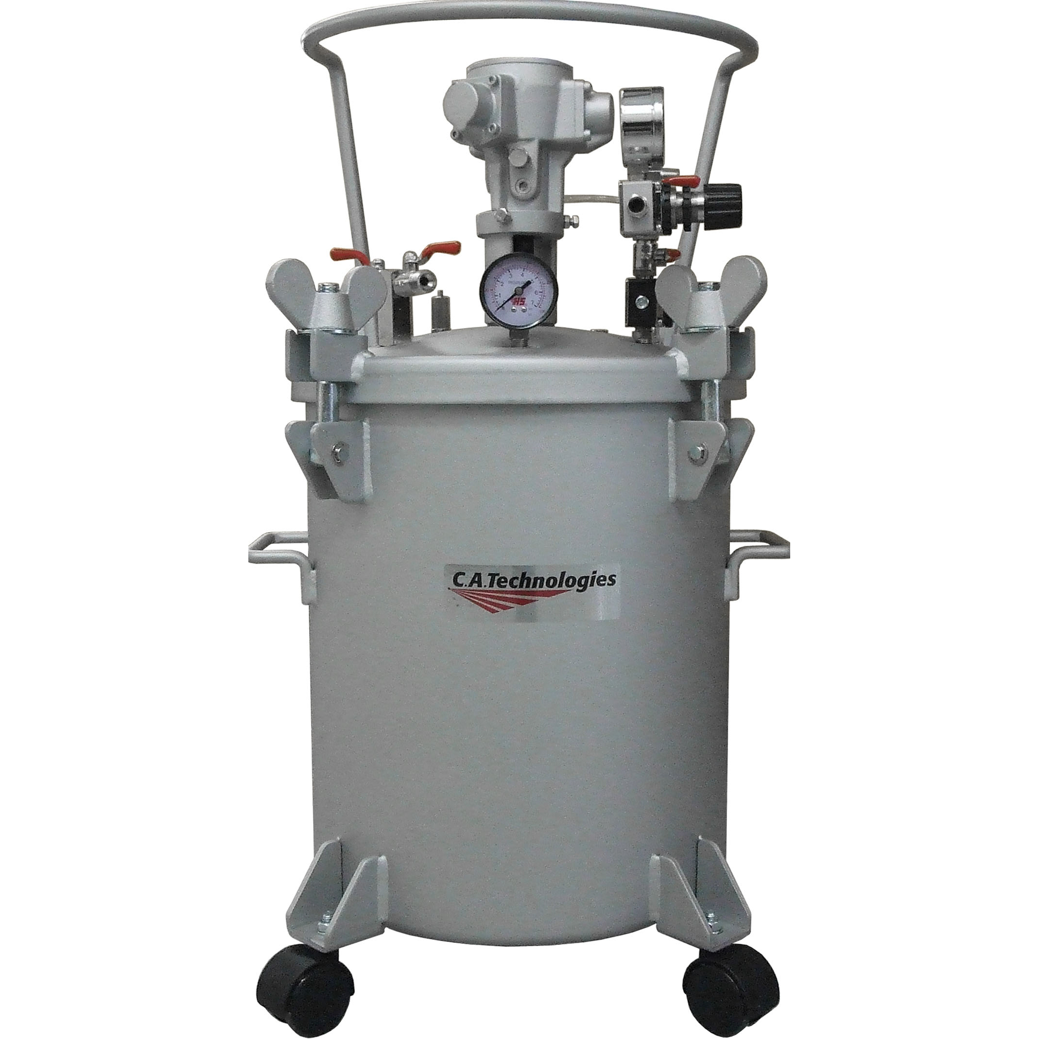CA Tech 51-504, Pressure Tank, 5Gal, Double Regulator & Air Agitator