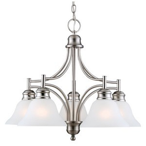 Design House 510255 Bristol 5-Light Chandelier, Satin Nickel