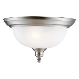 Design House 510297 Bristol 2-Light Ceiling Mount, Satin Nickel