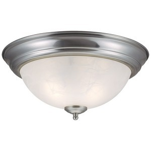 Design House 511550 Millbridge 2-Light Ceiling Mount Light Fixture, Satin Nickel