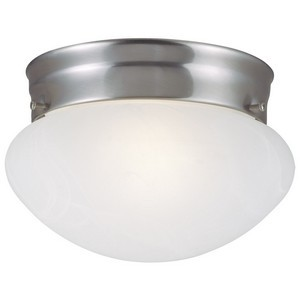 Design House 511568 Millbridge 2-Light Ceiling Mount Light Fixture, Satin Nickel