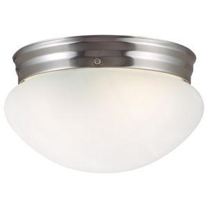 Design House 511576 Millbridge 1-Light Ceiling Mount Light Fixture, Satin Nickel