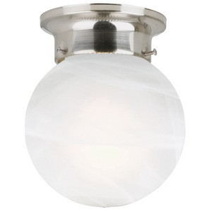 Design House 511592 Millbridge 1-Light Globe Ceiling Mount, Satin Nickel