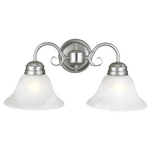 Design House 511600 Millbridge 2-Light Wall Sconce, Satin Nickel