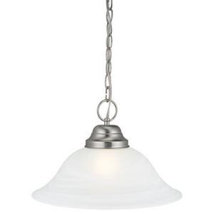 Design House 511626 Millbridge 1-Light Pendant, Satin Nickel
