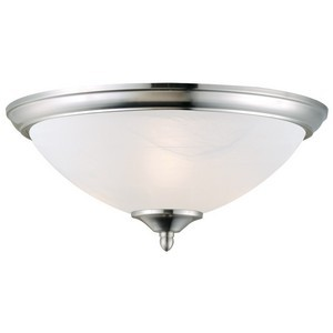 Design House 512475 Trevie 2-Light Ceiling Mount, Satin Nickel