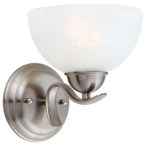 Design House 512517 Trevie 1-Light Wall Sconce, Satin Nickel