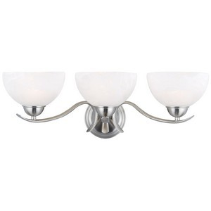Design House 512541 Trevie 3-Light Vanity Light, Satin Nickel