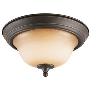 Design House 512616 Cameron 2-Light Ceiling Mount, Oil Rubbed Bronze