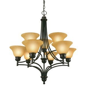 Design House 512855 Bristol 9-Light Chandelier, Oil Rubbed Bronze