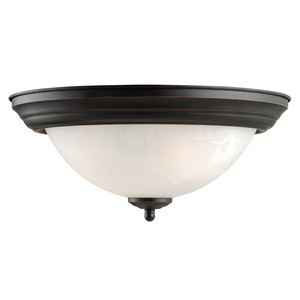 Design House 514489 Millbridge 2-Light 13-1/4in Ceiling Mount, Oil Rubbed Bronze