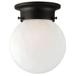 Design House 514521 Millbridge 1-Light Globe Ceiling Mount, Oil Rubbed Bronze