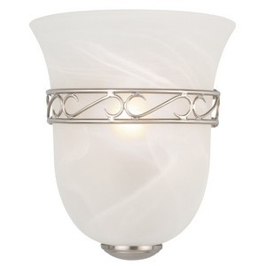 Design House 514588 Marlowe 1-Light Wall Sconce, Satin Nickel