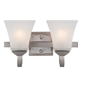 Design House 514752 Torino 2-Light Vanity Light, Satin Nickel