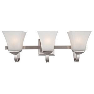 Design House 514760 Torino 3-Light Vanity Light, Satin Nickel