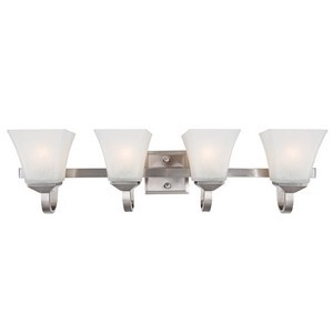 Design House 514778 Torino 4-Light Vanity Light, Satin Nickel