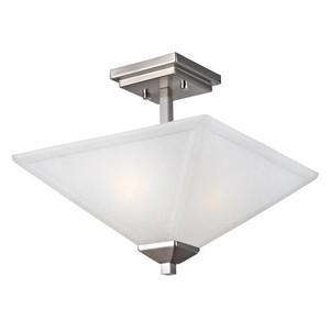 Design House 514802 Torino 2-Light Semi Flush Ceiling Light, Satin Nickel