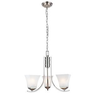 Design House 514828 Torino 3-Light Chandelier, Satin Nickel