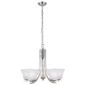 Design House 514836 Torino 5-Light Chandelier, Satin Nickel