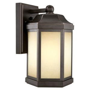 Design House 514992 Bennett Outdoor Fluorescent Downlight, Oil Rubbed Bronze