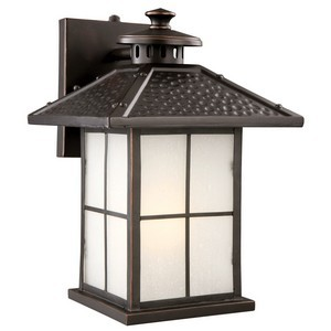 Design House 516781 Gladstone Outdoor Fluorescent Downlight, Oil Rubbed Bronze