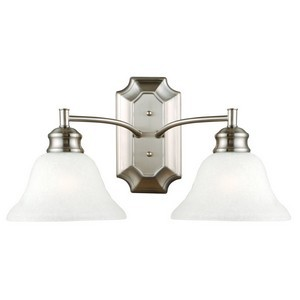 Design House 517086 Bristol 2-Light Wall Sconce Vanity Light, Satin Nickel
