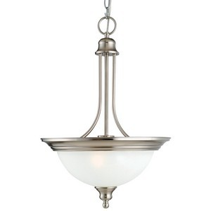 Design House 517102 Bristol 2-Light Pendant, Satin Nickel