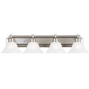 Design House 517128 Bristol 4-Light Vanity Light, Satin Nickel