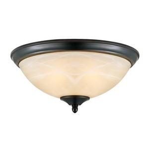 Design House 517375 Trevie 2-Light Flush Ceiling Mount Light, Oil Rubbed Bronze