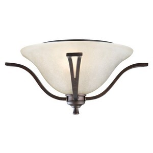 Design House 517532 Ironwood 2-Light Flush Mount Ceiling Light, Brushed Bronze