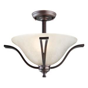 Design House 517631 Ironwood 2-Light Semi Flush Ceiling Light, Brushed Bronze