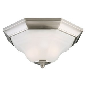 Design House 517953 Barcelona 2-Light Flush Mount Ceiling Light, Satin Nickel