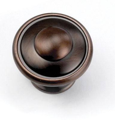 """Windsor Knob 1-3/8"""" Dia Venetian Bronze Laurey 51877"""