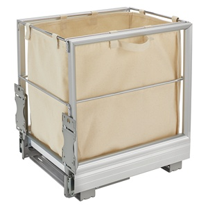 "Rev-A-Shelf 5190-15RM-117, 14-5/16""W Canvas Hamer Pull-Out Slides & Silver Tray"