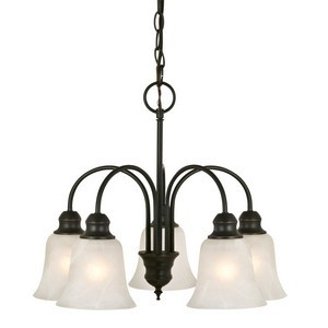Design House 519322 Ridgeway 5-Light Chandelier, Oil Rubbed Bronze
