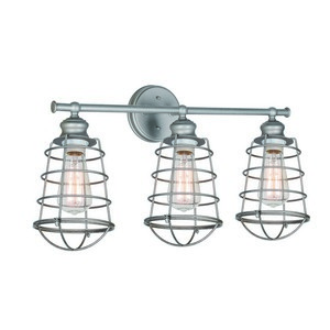 Design House 519728 Ajax 3LT Vanity Light Galvanized