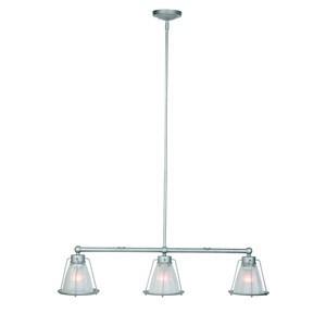 Design House 519801 Essex 3LT Island Light Galvanized