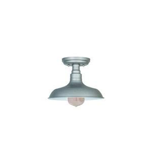 Design House 519876 Kimball 1LT Semi Flush Ceiling Mount Galvanized