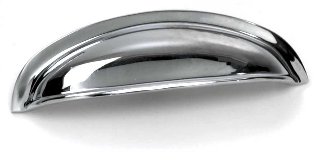 Laurey 52026 Cup/ Bin Handle, Centers 3in, Polished Chrome, Danica