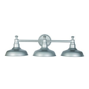 Design House 520312 Kimball 3LT Vanity Light Galvanized
