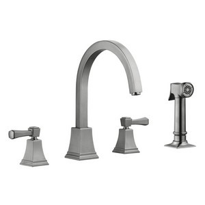 Design House 522110 Torino Kitchen Faucet with Sprayer, Satin Nickel