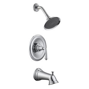 Design House 524637 Eden Tub & Shower Faucet, Polished Chrome