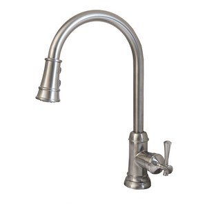 Design House 524702 Ironwood Kitchen Faucet with Pullout Sprayer, Satin Nickel